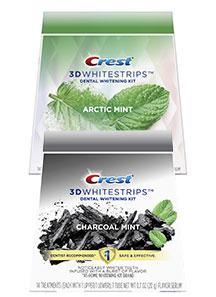 Bělicí pásky Crest 3D White CHARCOAL MINT a ARCTIC MINT