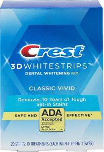 Bělící pásky Crest 3D White Vivid